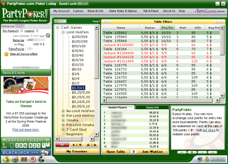 party poker gratuit